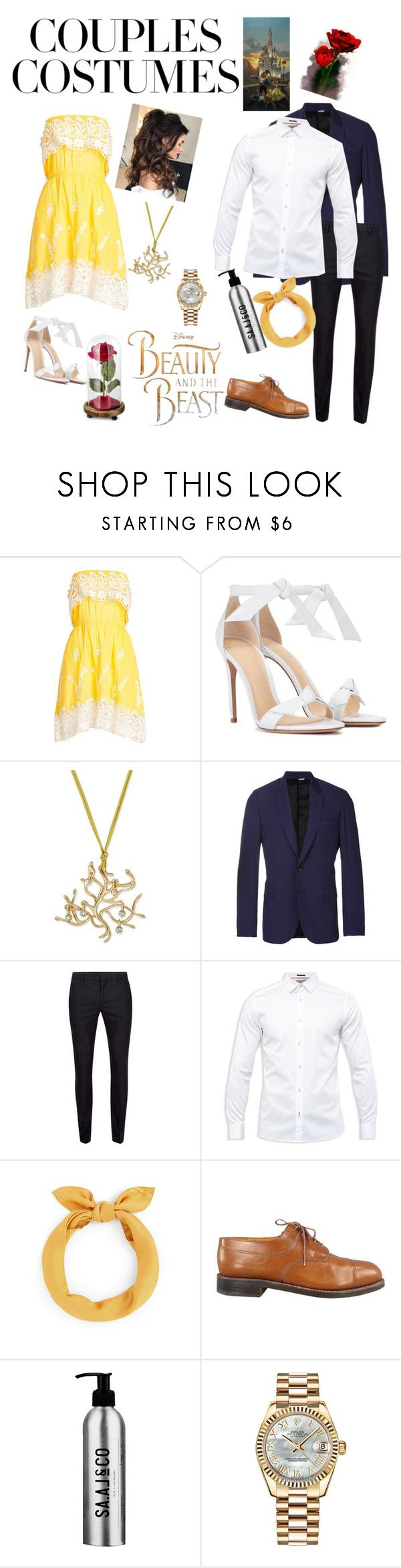 """Modern Beauty and the Beast"" by that-gurl-mia ❤ liked on Polyvore featuring Christophe Sauvat, Alexandre Birman, PS Paul Smith, Topman, Ted Baker, J.M. Weston, Rolex, Disney and modern"