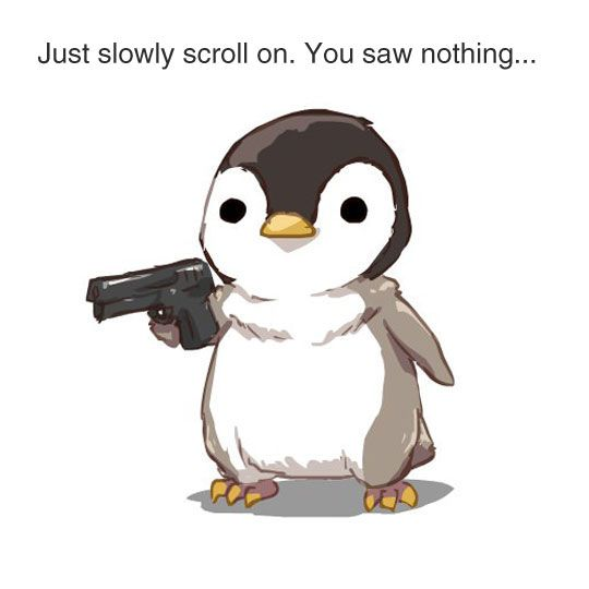 Just Slowly Scroll On. You Saw Nothing