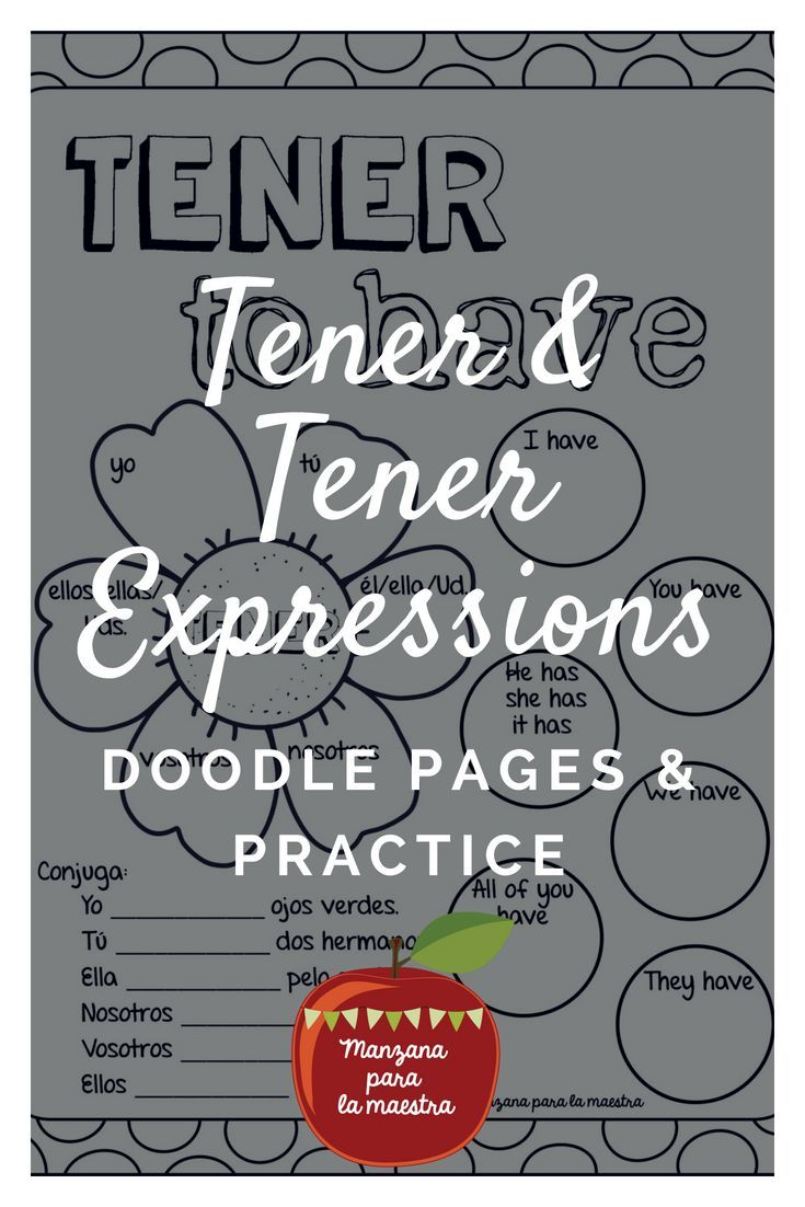 Engage Your Students With These Tener Doodle Notes And Tener Expressions For The Beginner Spanish Learning Spanish Spanish Classroom Spanish Teaching Resources [ 1102 x 735 Pixel ]