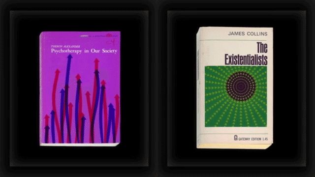 In the 1950s and '60s, book cover designers borrowed from the aesthetics of the burgeoning Op art movement.