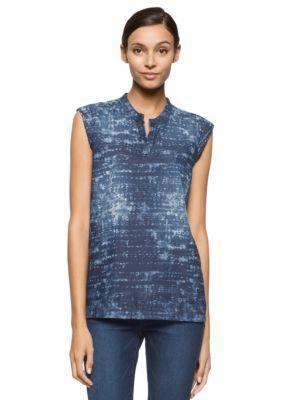 Calvin Klein Jeans  Sleeveless Denim Shirt