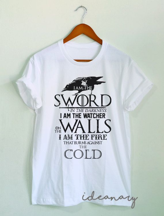 The Night's Watch Oath t-shirt Game of Thrones shirt by Ideanary