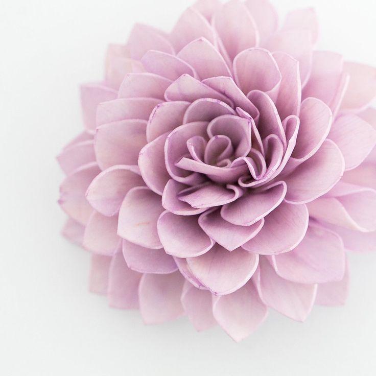 10 Lavender Wooden Flowers, Rustic Wedding Decorations, Wedding Flowers
