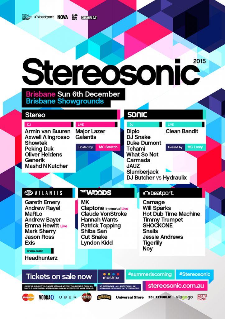 Stereosonic Brisbane 2015, Peking Duk, Major Lazer, Duke Dumont