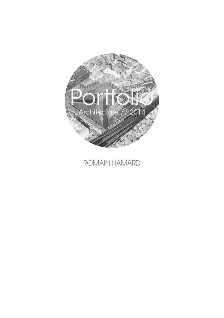 Architecture Portfolio // Romain Hamard Architecture Landscape Portfolio // Romain Hamard