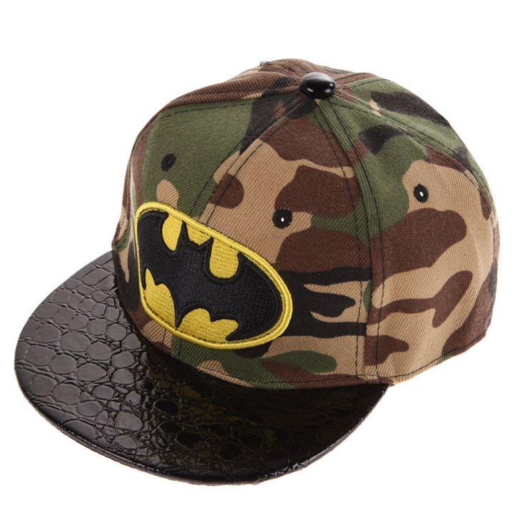Kids Cartoon Casquette Flat Snapback Batman Cap Children Embroidery Cotton Baseball Cap Baby Boys and Girls Hip-Hop Hats
