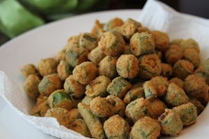 The Best Fried Okra (easy too)