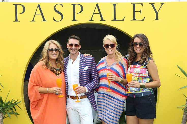 Me with my lovely date for the Polo, designer Paul Hunt and the lovely Claire Parviz, Editor of Style Magazine and Dianne from Veuve
