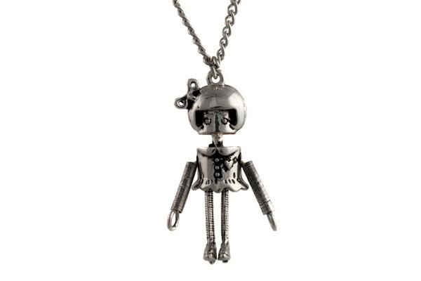 Honey Bot Silver Necklace