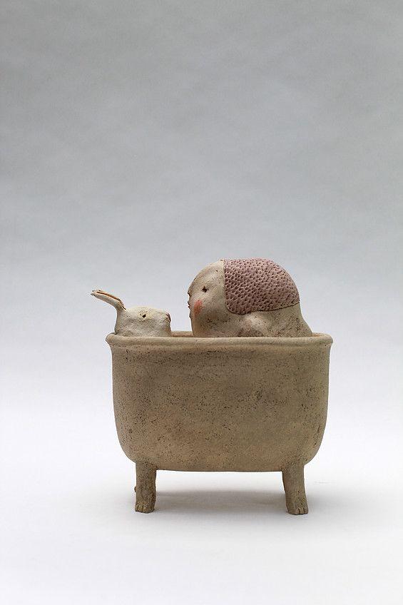 629 best images about clay on pinterest ceramics for Sculpture contemporaine
