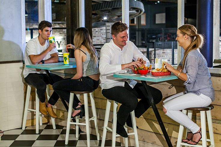 Six Fish, Modern Retro Fish n Chip Shop, Dining Area, Collegians Wollongong #decor #food