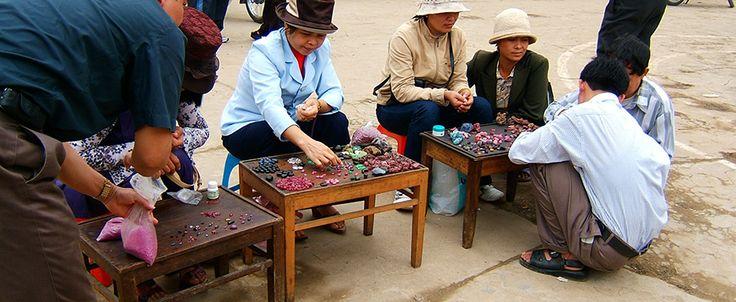 The Gem Market in Luc Yen town / Yen Bai province. #vietnam #gem #market #lucyen #travel #wander