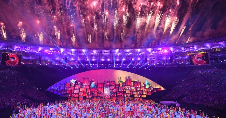 A Gilded Olympics Begin With the Opening Ceremony in Gritty Rio - The New York Times