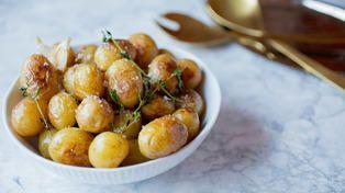 Stekte poteter med hvitløk og timian