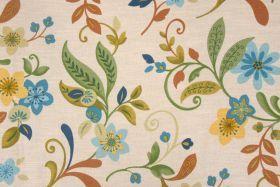 Swavelle/Mill Creek :: Mill Creek Tracey - Sussex Printed Textured Cotton Drapery Fabric in Mediterranean $9.95 per yard - Fabric Guru.com: ...
