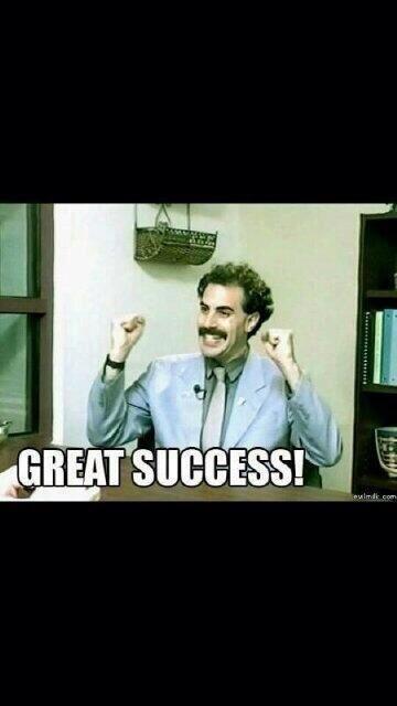 Borat. Great success! Comedy movie quotes, Movie quotes