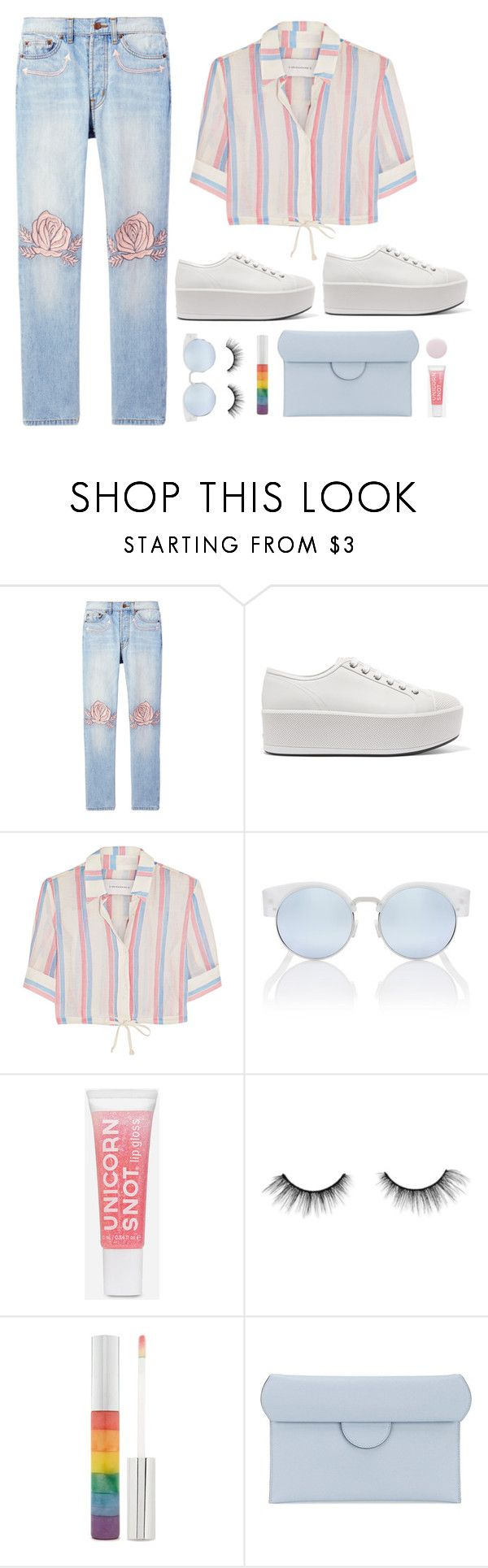 """""""Platform Sneakers"""" by shoelover220 ❤ liked on Polyvore featuring Bliss and Mischief, Prada, Solid & Striped, tarte, Forever 21, Roksanda, Nails Inc. and platformsneakers"""