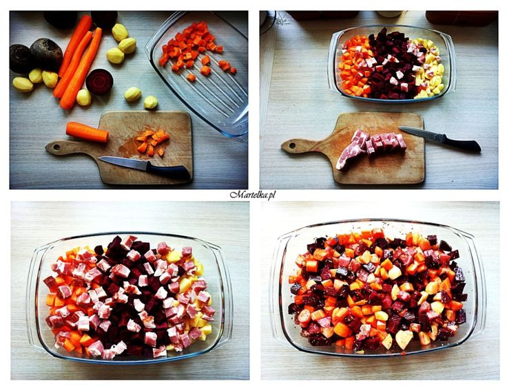 martelka.pl | Pomysł na szybki obiad – zapiekane warzywa z boczkiem i ziołami
