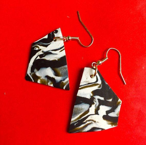 Jewellery handmade Geometric Earrings Black by MajorMinorShop
