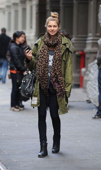 Choose a stylish scarf.