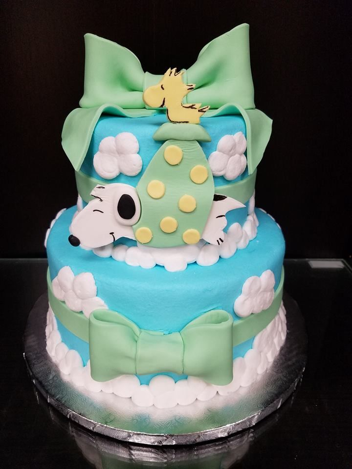 Snoopy Baby Shower Cake