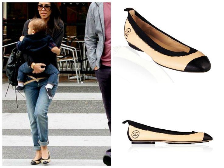 Kourtney Kardashian wearing Ballerina Chanel Flats