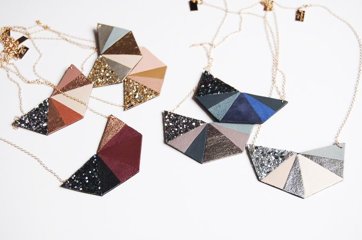 """Colliers """"Hexa"""" / Chouette Fille www.chouettefille-shop.com"""
