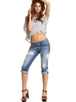 Джинсовые шорты и капри женские