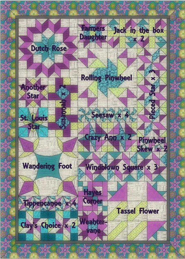 Eleven Garden Quilts: links for Modern Sampler QAL Tutorials...   +quilt. +pattern. +patchwork. +tutorial.