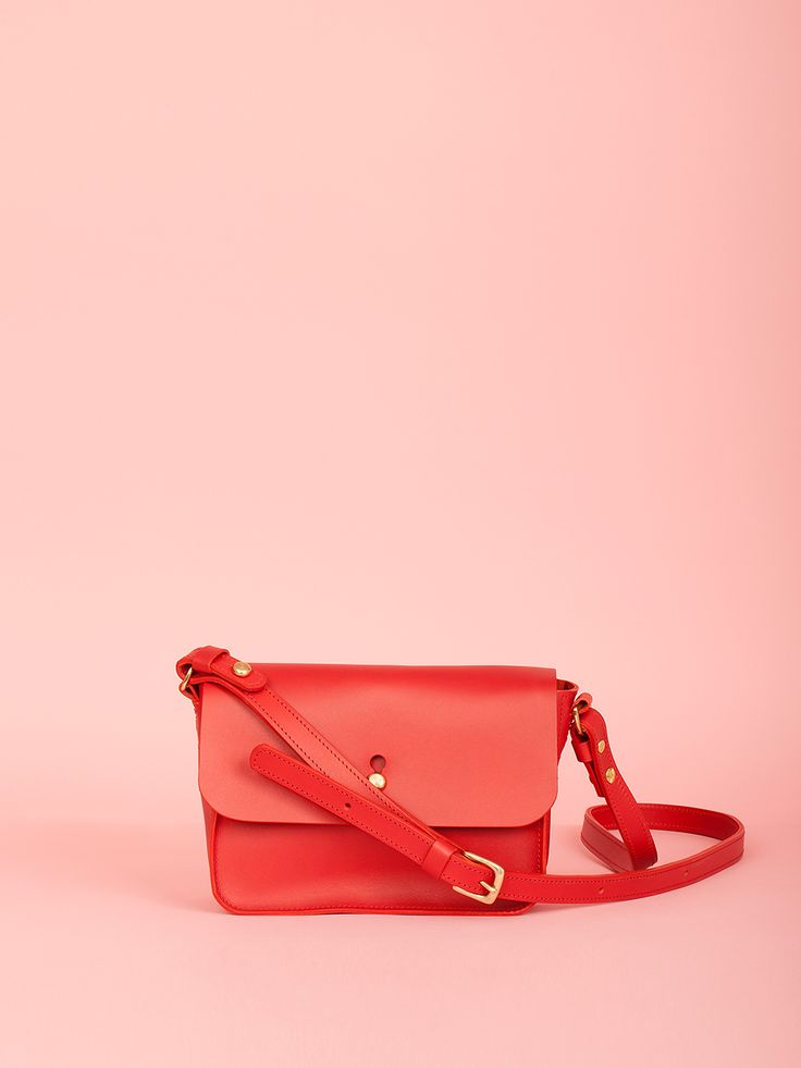 Robin - Chili Red Leather Bag, Mimi Berry SS16