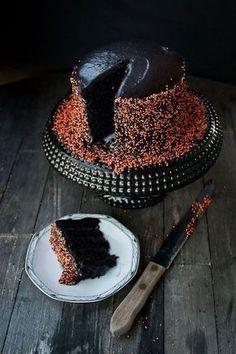 Black Velvet Cake via Food Plus Words