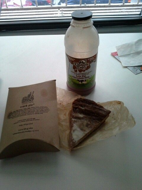 Crack pie by Momofuku milk bar New Yor, Sunday brunch dessert. #dessert