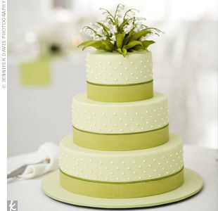 Green #Wedding #Cake by Ron Ben-Israel Cakes in New York
