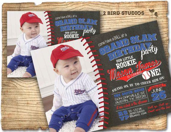 Baseball party invitation Baseball birthday party by 2birdstudios