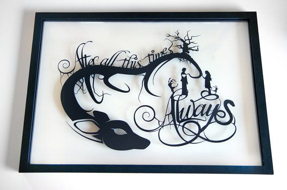 Harry Potter Quote After All This Time Always Severus Snape Lily Paper cut Love Couple Wall Art Patronus Geek Gift Harry Potter Gift FRAMED – Isabel Camara