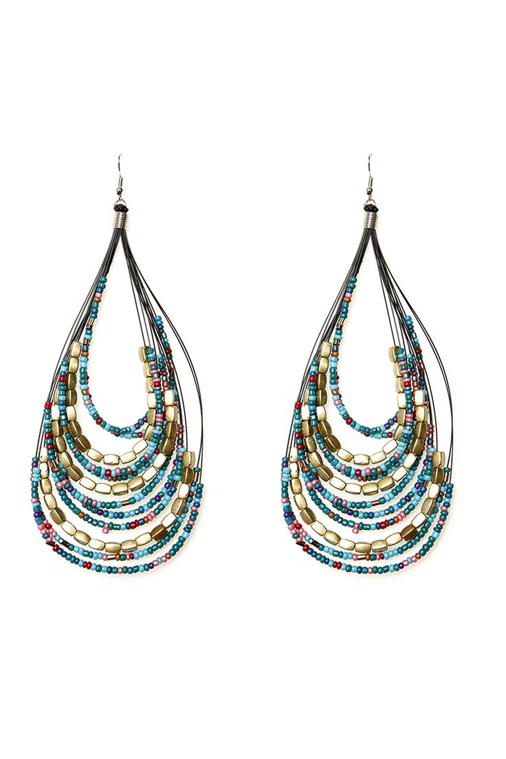 Curve Multi - Color Earrings