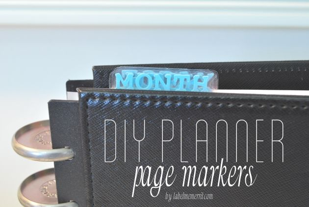 DIY Planner Page Markers: Learn how to make easy bookmarks for your planner using your Silhouette Cameo
