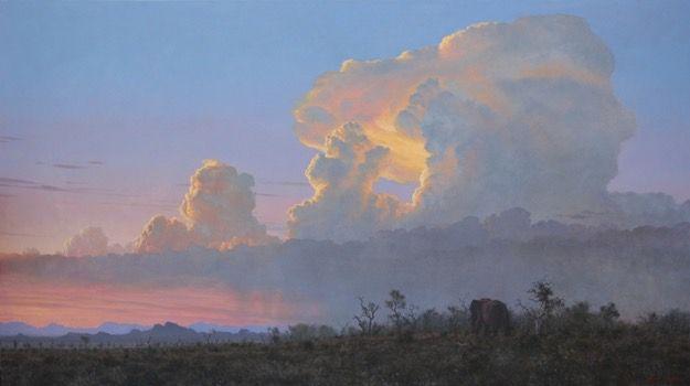 Evening glow  Oil on canvas  by Robert Koch