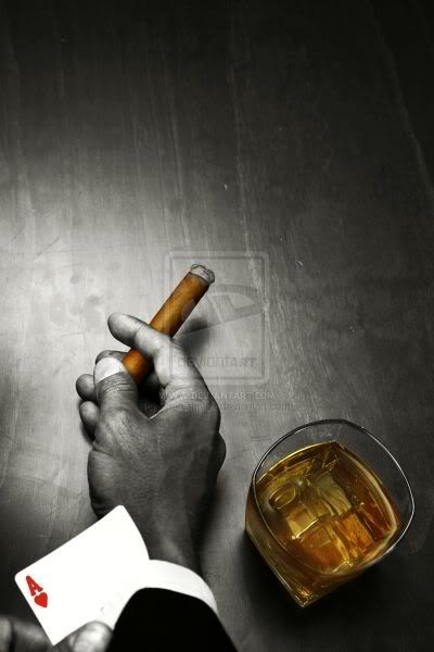 Love a good scotch cocktail, a beautiful cigar and a game of poker!!!