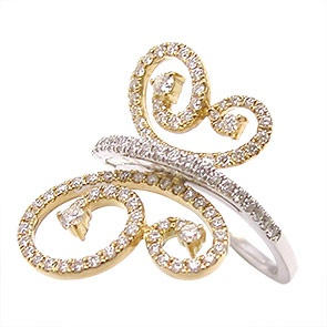 Lovely butterfly Ring By:: On Cheong Jewellery ::