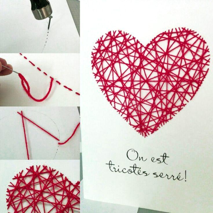 Carte de souhait géante - art filaire (string art)                                                                                                                                                                                 Plus