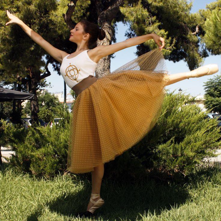 Maraboo fairy-tale beige polka dots skirt $120€