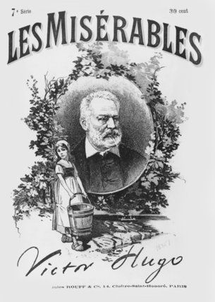 Les Misérables: Title page from the first edition of Hugo's novel, 1862