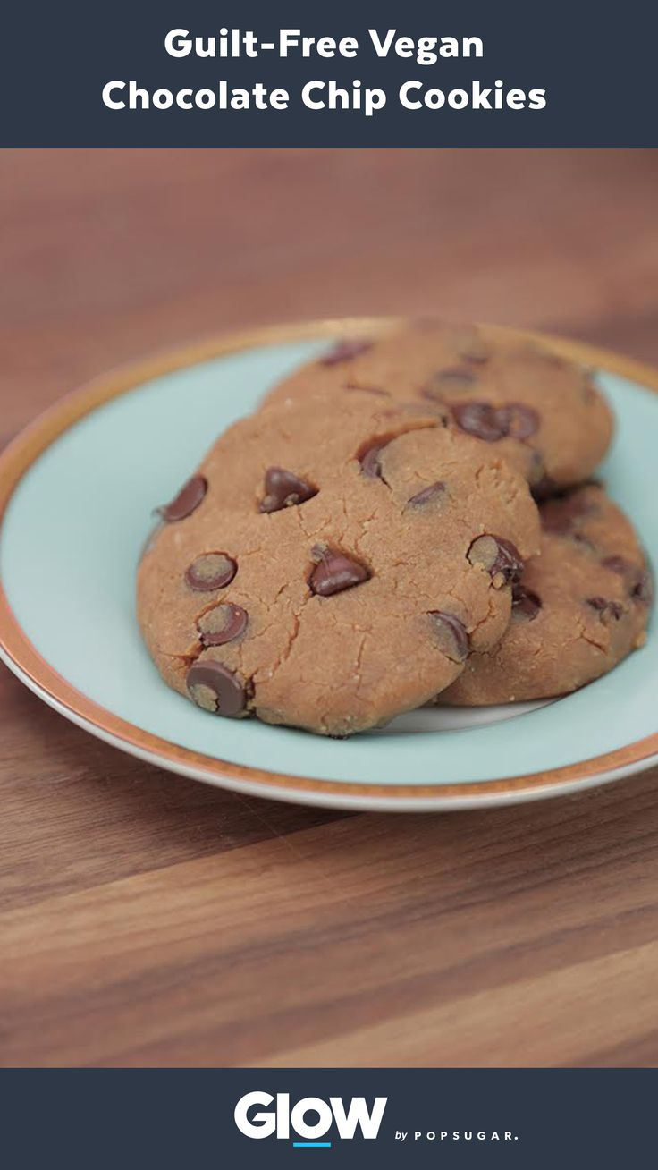 These healthy chocolate chip cookies are a protein-packed take on the classic cookie in one sweet, healthy snack!