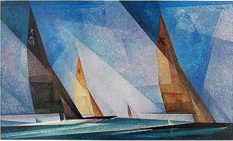Bateaux à voile de Lionel Feninger: inspiration cubiste. Magnifique!