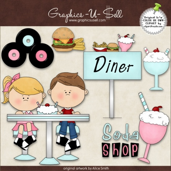 17 Best images about 50's Diner on Pinterest | Clip art, Diners ...