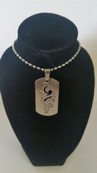 Mens stainless steel tag with celtic. AUS $ 12.50