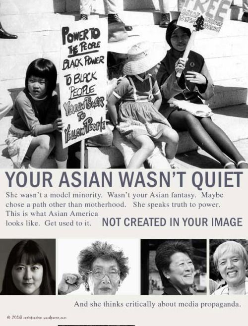 Mari Matsuda, Yuri Kochiyama, Helen Zia, Grace Lee Boggs.