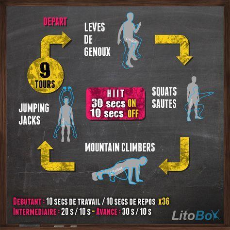 Brûlez du gras et travaillez la cardio en 24 minutes à la maison !  Bonne journée et bon courage !  #litobox #hiit