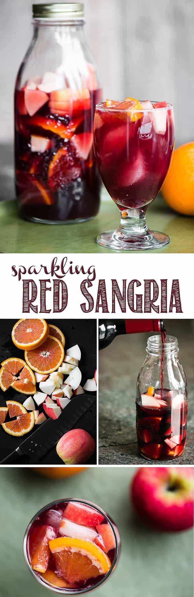 Sparkling Red Sangria is made with your favorite red wine